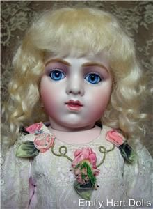 Antique Reproduction Porcelain Doll Head Only by Emily Hart