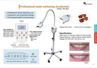 New Teeth Dental Whitening Bleaching Mobile LED Light Lamp Accelerator