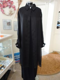Gorgeous Ellen Tracey Long Black Evening Dress Set SZ20