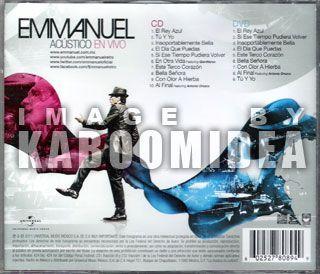 CD DVD Emmanuel Acustico En Vivo Edicion Especial 2011 New SEALED