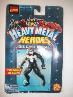 New 1997 Die Cast VENOM Spider Man Marvel Toy Biz Heavy Metal Heroes