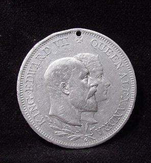 1902 King Edward VII Aluminum Coronation Medal