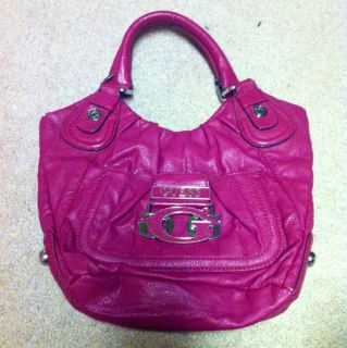 Pink Leather Guess Purse in EUC Super Cute Authentic