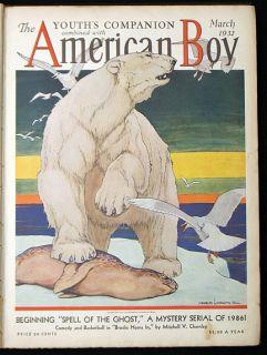 1932 American Boy Bound Volume Daisy Air Rifle Lionel Train Toy
