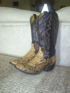 Mens Panhandle Slim 9 1 2 D Python Snake Skin Cowboy Boots