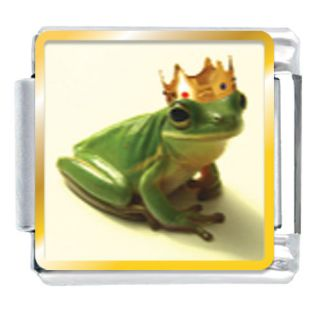 Pugster 9mm Photo Italian Charm Frog Prince Aquatic Z50