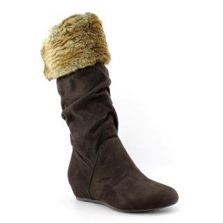 Report Enfield Womens Size 7 5 Brown Fabric Fashion Knee High Boots