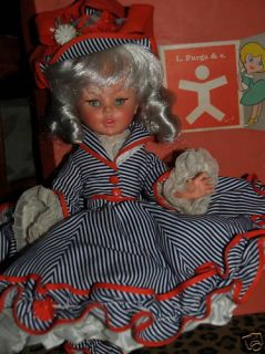 Vintage Furga Doll Eleanora Made in Italy 1960s and Box