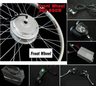 Front 36V 250W E Bike Electric Bicycle Conversion Kits Scooter Hub