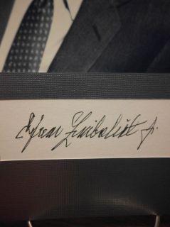 Efrem Zimbalist Jr Autograph 77 Sunset Strip Display Signed Signature