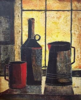 Efren Ordoñez Oil Painting Still Life Latin American Listed Chihuahua