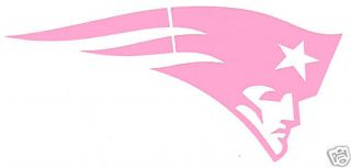 New England Patriots Ladies Pink Auto Car Vinyl Decal