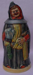 German Character Figural Beer Stein Monk 551 HP Eckhardt Engler