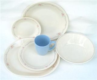 18 pc CORELLE ENGLISH BREAKFAST DINNERWARE SET + BONUS