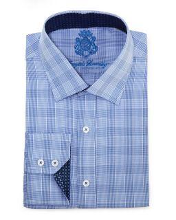 English Laundry Long Sleeve Check Shirt Blue