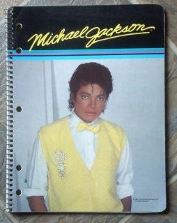Michael Jackson 50 Page Theme Book 1984 Collectible Gem