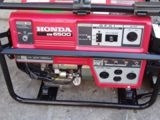 HONDA EB6500 ELECTRIC START 6500 WATTS GENERATOR. WORKS GREAT.