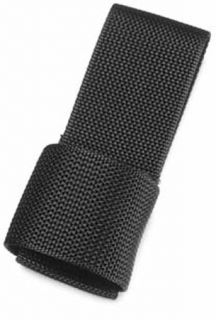 Police Fire Rescue Flashlight Holder Nylon C D Cell with Belt Loop