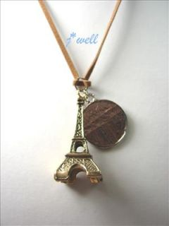 Premier Jewelry Eiffel Tower w/Coin Fashion Necklace for *Christmas