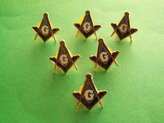 lot of 10 Masonic Freemason Hat Lapel pins Square & Compasses