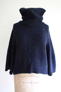 Eileen Fisher Toast Taupe Beige Wool Sweater Jacket Blazer Cardigan