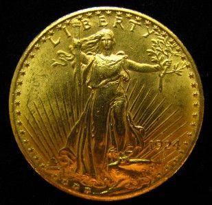 St Gaudens $20 U s Gold Double Eagle BU Condition