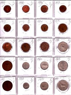 Ireland Lot of 20 Different Mostly Pre Euro Coins Nice Irish Coin Lot