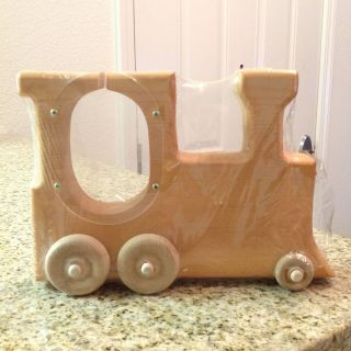 Wooden Train Shaped Picture Photo Frame Wooden Wheels El Cajon