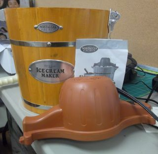 Icmw 400 4QUART Wooden Bucket Electric Ice Cream Maker F361