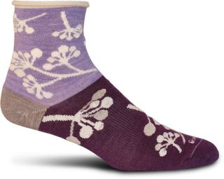 Goodhew Womens Lifestyle Designs Eclectic Twig Lilac Socks Size US M/L