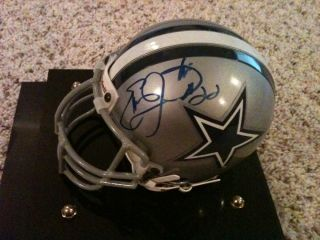 Emmitt Smith Signed Mini Helmet NFL