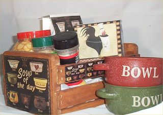 Gift Basket Chicken Soup Get Well Mugs Crackers Wood Crate Broth Ect
