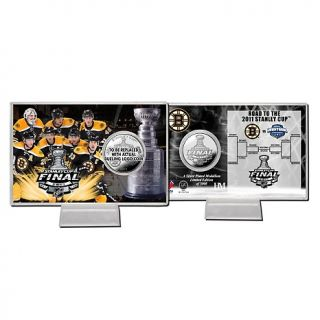 Boston Bruins NHL 2011 Stanley Cup Final Silver Plated Coin Card at