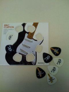 Eric Clapton 2008 Guitar Pick Pack North America Europe