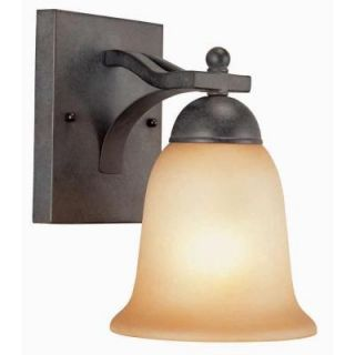 Commercial Electric Rustic Iron 1 Light Reversible Wall Sconce