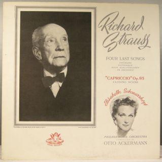 Richard Strauss Capriccio Schwarzkopf Opera Angel LP