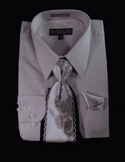 Daniel Elissa Mens Convertible French Cuff Dress Shirt Tie
