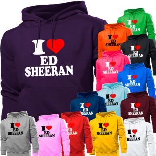 Love Ed Sheeran A Team Hoodie Hoody Women Boys Girls Kids Sizes New