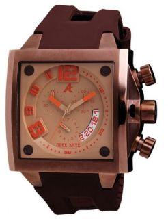 This is a NEW ADEE KAYE MENS PERSONA COLLECTION BROWN DIAL SQUARE
