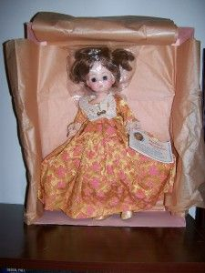 Elizabeth Monroe Madame Alexander First Lady Doll Collection 1505