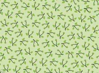 Mary Engelbreit Fabric Tea Decadence Twigs Light Green
