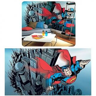Kids Decor Wall Decals Superman Full Size Prepasted Mural   9H x 15W