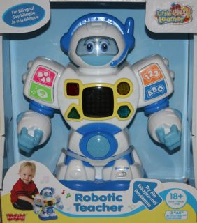 Talking Robotic Teacher English Spanish Battery Operated