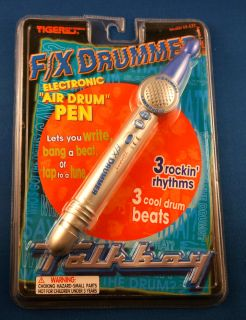 boy air drum pen electronic handheld game by tiger electronics new