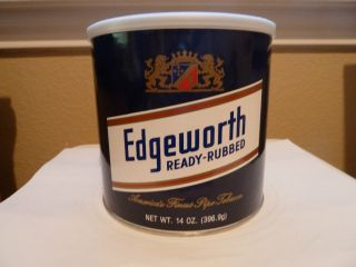 Edgeworth Ready Rubbed Collectible Pipe Tobacco Tin SEALED 14 oz 2008