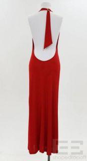 ESCADA Black Label Red Jersey Knit Halter Dress Size 38