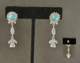 Elegant Austrian Crystal Designer Earrings
