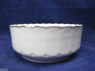 Eschenbach Bavaria Germany White w Silver Trim Bowl