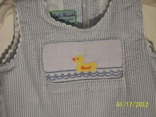 Little Threads by Maria Elena 2 PC Capri with Smocked Duck Top Set 3T
