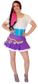Jasmin Gypsy Jezabel Esmeralda Fancy Dress Costume All Sizes